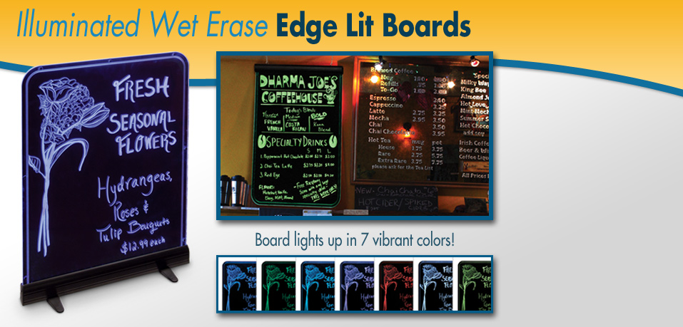 Illuminated Edgelit boards