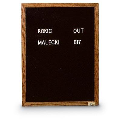 "18 x 24"" x 3/4"" Wood Framed Letterboard"