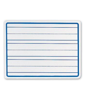 3 Penmanship Line White Dry Erase Board