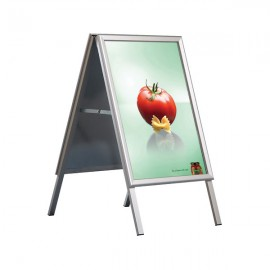 """A Board 22"""" x 28"""" Poster Size Mitered Corner, Silver Anodized Aluminum, Galvanized backing"""