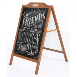 Wood Look A-board With decorative header