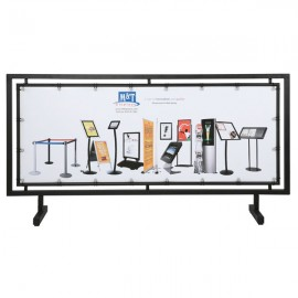 """Street Barrier Q Control Systems Black 65"""" x 24"""" Poster Size"""