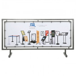 """Street Barrier Q Control Systems Silver 65"""" x 24"""" Poster Size"""