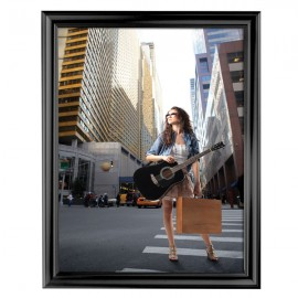 "Decorative Frame 22'' X 28''  Poster Size 1.58"" Black Color Profile, Mitered Corner"