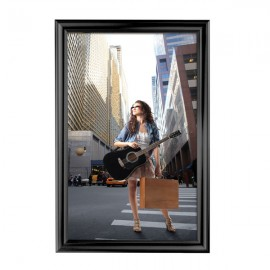 "Decorative  Frame 24'' X 36''  Poster Size 1.58"" Black Color Profile, Mitered Corner"