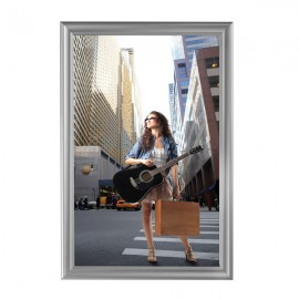 "Decorative  Frame 24'' X 36''  Poster Size 1.58"" Silver Color Profile, Mitered Corner"