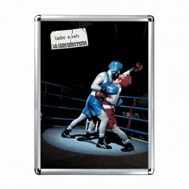 "Snap Frame 18'' X 24''  Poster Size 1"" Silver Color Profile, Round Corner"