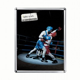 "Snap Frame 22'' X 28''  Poster Size 1"" Silver Color Profile, Round Corner"