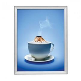 "Snap Frame 22'' X 28''  Poster Size 1.25"" Silver Color Profile, Safe Round Corner"