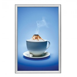 "Snap Frame 24'' X 36''  Poster Size 1.25"" Silver Color Profile, Safe Round Corner"