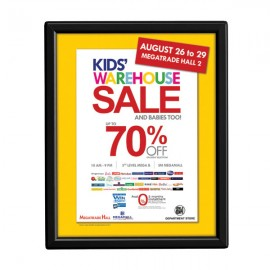 "8'' X 10''  Poster Size 0.55"" Black Color Profile, Safety Corner, With back support"