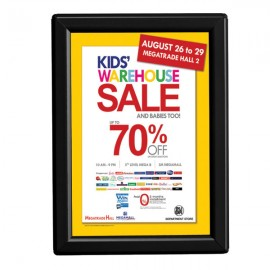"5'' X 7''  Poster Size 0.55"" Black Color Profile, Safety Corner, With Back Support"