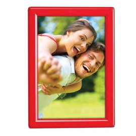 "5'' X 7'' Poster Size 0.55"" Red (RAL 3020) Profile, Safety Corner, With Back Support"