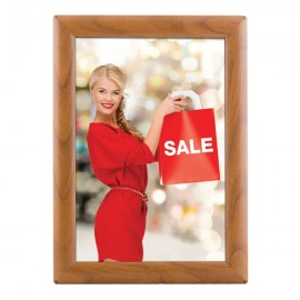 "8.5'' X 11''  Poster Size 1"" Wood Effect Color Profile, Safety Corner, With Back Support"