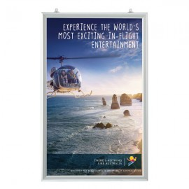 """Slide In Frame 24'' X 36'' Poster Size 1"""" Silver Color Profile, Mitered Corner, Double Sided"""