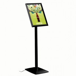 "Flexible Sign Holder with LED Box Black, 11"" x 17"" Poster Size Fixed Height, Landscape/Portrait use"