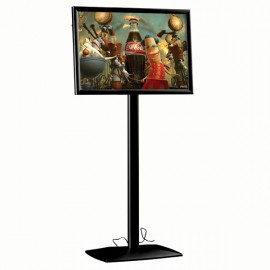 "Flexible Sign Holder with LED Box Black, 18"" x 24"" Poster Size Fixed Height, Landscape/Portrait use"