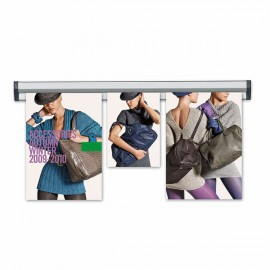 "Ticket Rail 24""  Poster Width Silver Anodized Aluminum"