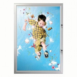 "24""w x 36""h Poster Size Double Lock, Weatherproof"