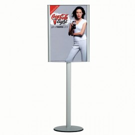 "Free Standing Leaflet Display-curved Box 18""w x 24""h  Poster Width w/ out lighting"