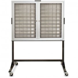 "46 W x 35"" H x 3 1/4"" D 140 Pocket Cabinet on Stand"
