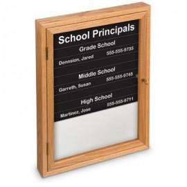 "18 x 24"" Single Door Illuminated Enclosed Magnetic Directory Board"