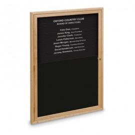 "24 x 36"" Single Door Standard Enclosed Magnetic Directory Board"