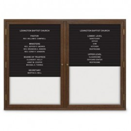 "42 x 32"" Double Door Standard Enclosed Magnetic Directory Board"