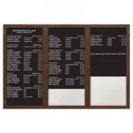 "96 x 48"" Triple Door Illuminated Enclosed Magnetic Directory Board"