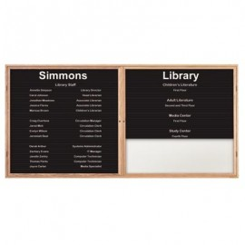 "72 x 36"" Double Door Illuminated Enclosed Magnetic Directory Board"