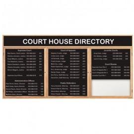 "72 x 36"" Triple Door Illuminated Enclosed Magnetic Directory Board w/ Header"