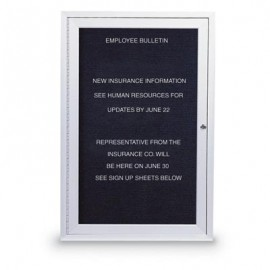"24 x 36"" Illuminated Single Door Outdoor Enclosed Letterboard"