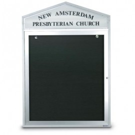 "43 x 33"" Cathedral Design Outdoor Letterboards"