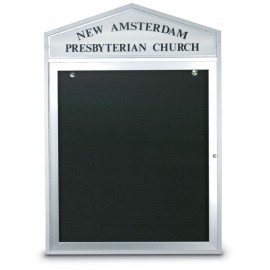"43 x 33"" Cathedral Design Double Sided Outdoor Letterboards"