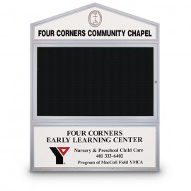"47 x 36"" Cathedral Design Double Sided Outdoor Letterboards"