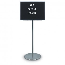 "24 x 18"" Non-Adjustable 2-Sided Aluminum Letterboard"