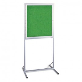 "30 x 36"" Aluminum Enclosed Double Pedestal Easy Tack Board"