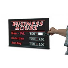 "14 x 22"" Business Hours Signs"