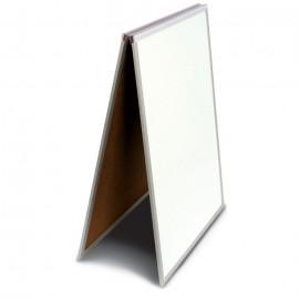 "18 x 24"" White Dry Erase Easel Economy Sandwich Board"