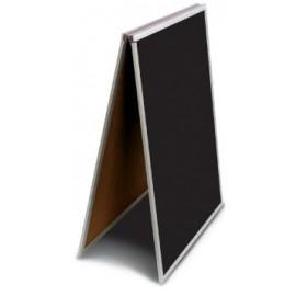 "18 x 24"" Black Dry Erase Easel Economy Sandwich Board"