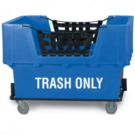 "Trash Only"" Blue Imprinted Plastic Basket Truck"