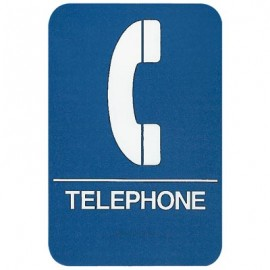 Telephone ADA Compliant Sign