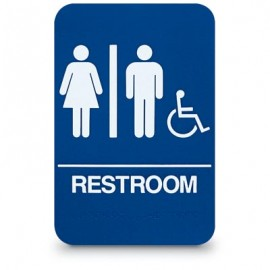 Men/Women Accesible ADA Compliant Sign
