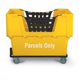 "Parcels Only"" Yellow Imprinted Plastic Basket Truck"