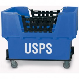 "USPS"" Blue Imprinted Plastic Basket Truck"