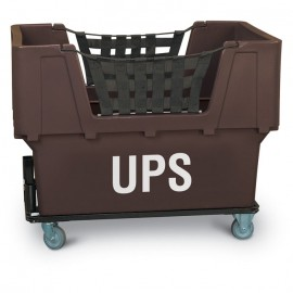 "UPS"" Brown Imprinted Plastic Basket Truck"