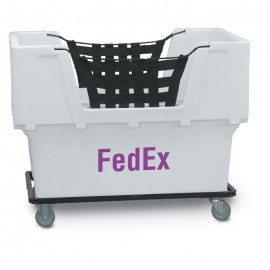 "FedEx"" White Imprinted Plastic Basket Truck"