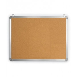 "36 x 24"" Radius Aluminum Framed Corkboard"