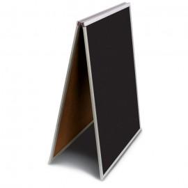 "24 x 36"" Black Dry Erase Easel Economy Sandwich Board"