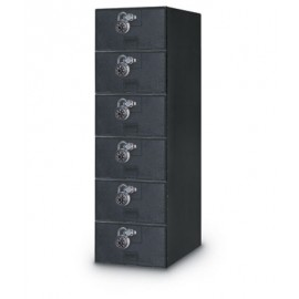 "11 1/2 x 18"" x 38"" Quiet 6 Door Economy Locker"